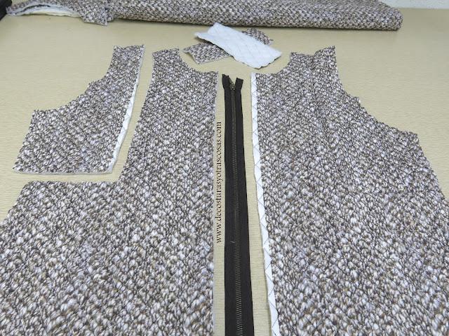abrigo 3/4 con cierre cremallera