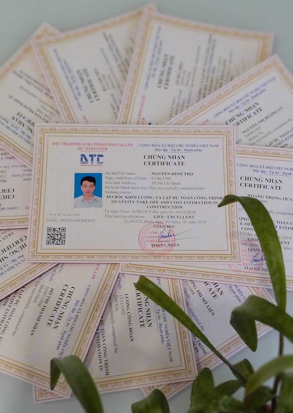 CLB Dự Toán DTC khai giảng lớp dự toán khóa K78(25/11/2019) tại Tp.HCM