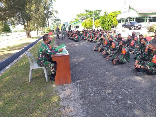 Personel jajaran kodim 0207/Simalungun Laksanakan Latihan Perorangan Jabatan Dimakodim