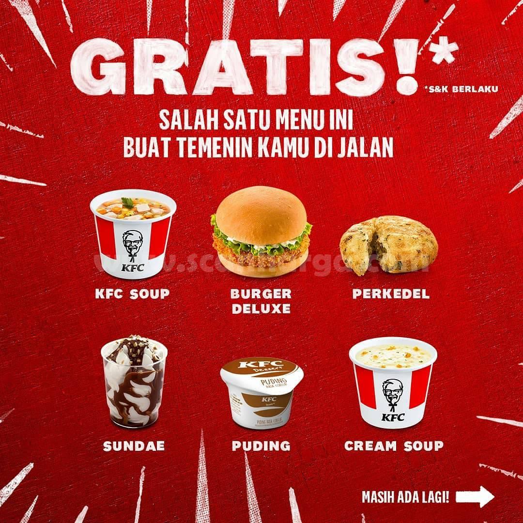 Promo KFC Drive Thru: GRATIS 1 menu Goceng tiap Beli 9 Potong Ayam 2