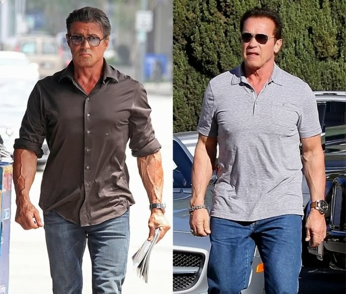 Stallone is 1 year older than Schwarzenegger. What is he ...