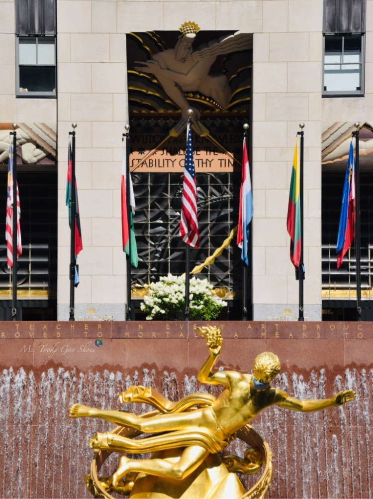 Rockefeller Center,  New York City, NY  _ Ms. Toody Goo Shoes