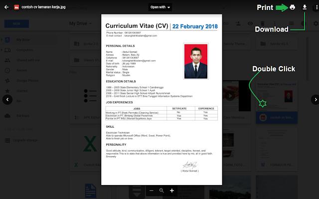 Cara cetak / print dan download file dari google drive