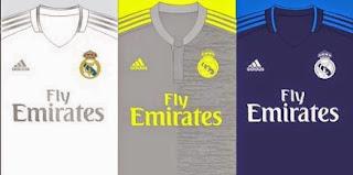 gambar bocoran jersey real madrid home away third musim 2015/2016, kualitas grade ori, harga jersey musim depan, musim 2014/2016
