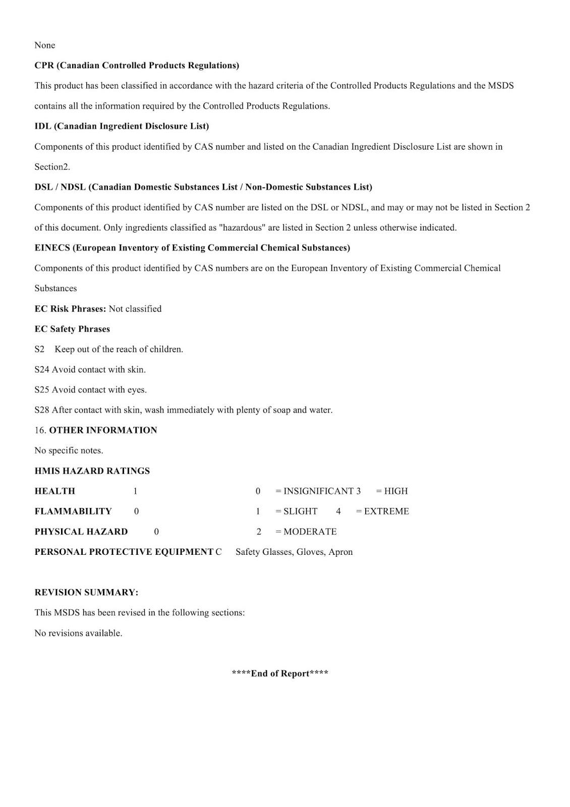 MSDS - Chất nhuộm màu cho nền bê tông - Trang 5