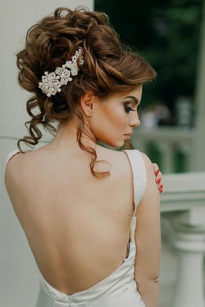 Peinados recogidos para novia 2018