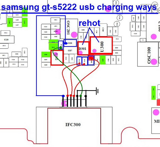 This post i will share with you samsung s7562 charging ways easily solve s7562 charging problem solution. before make this jumper at first clean your device mother board using nc tuner.