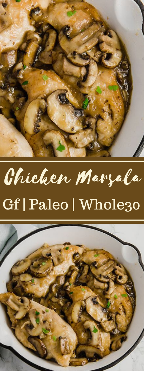 Chicken Marsala #healthydiet #whole30 #marsala #chicken #paleo