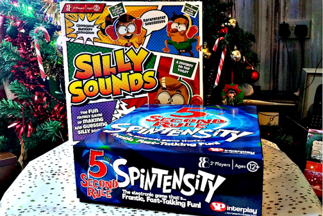 2 Board games from Interplay Silly Sounds and 5 Second Rule Spintensity