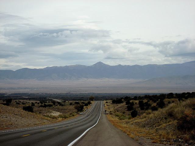 Highway 380 between San Antonio and Carrizozo, New Mexico. November 2012.