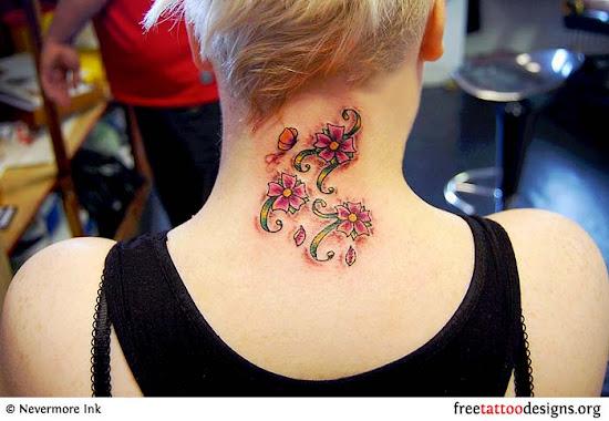 Tatuagem femininas - flores, borboletas