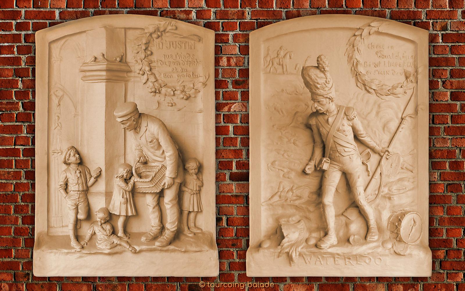 Maison du Broutteux, Watteeuw - Bas-reliefs de Jules Clamagirand