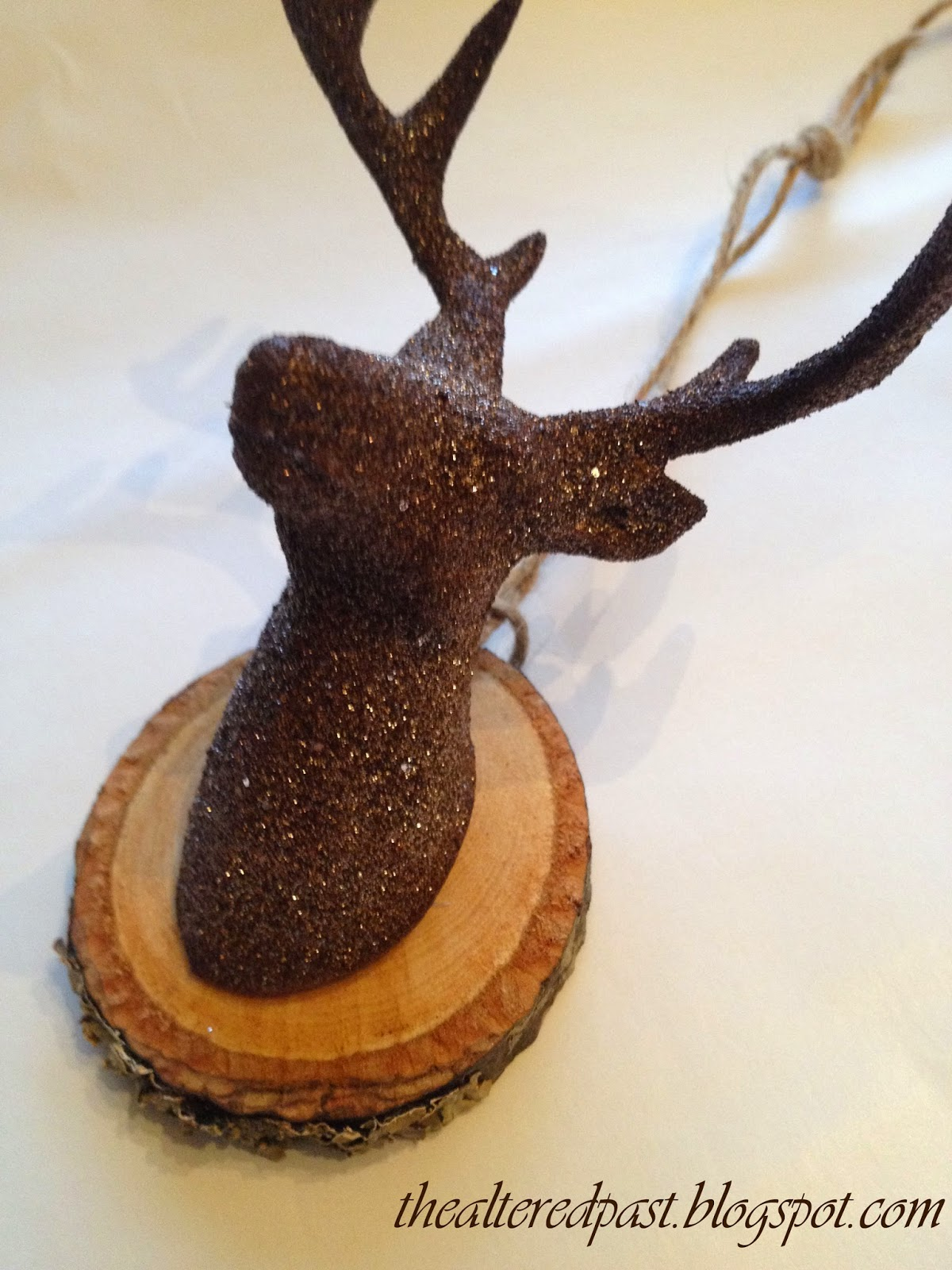 deer head ornament, the altered past blog