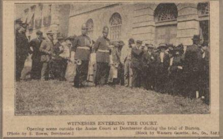Queue of people in the street