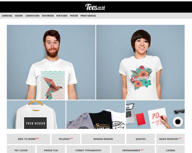 Pasarkan T-shirt Printing Secara Online