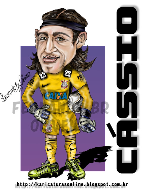 Caricatura Cássio Goleiro Corinthians 2012