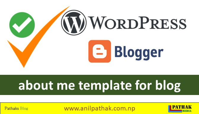 about me template for blog