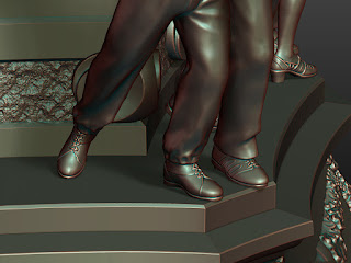 Details of sculptures of lower pairs - legs and shoes - 1