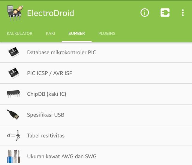 Aplikasi Memudahkan Pekerjaan Listrik, Mekanik dan Elektronik (ElectroDroid)