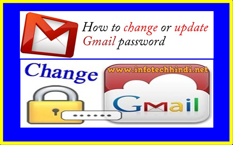 change gmail password in Hindi