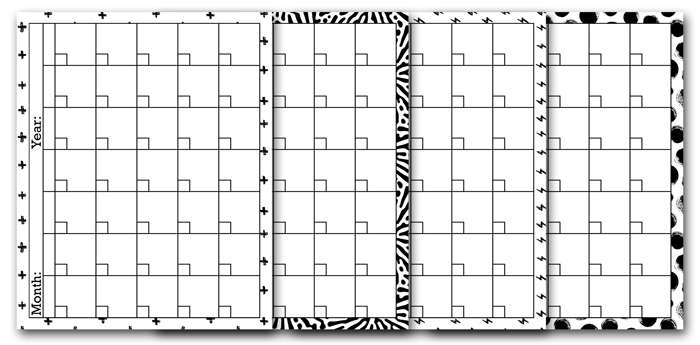 Free Blank Calendar Pages