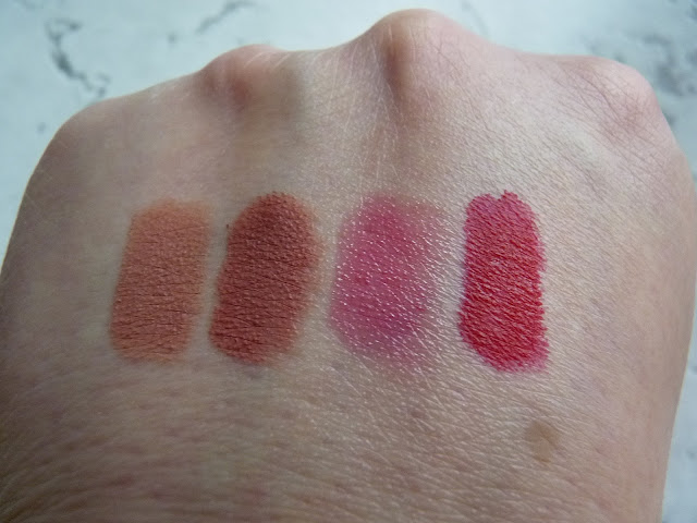 Lisa Eldridge Velvet Lipsticks swatches