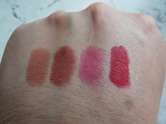 Lisa Eldridge Velvet Lipsticks swatches