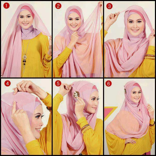 Tutorial Hijab Pengantin Segi Empat Modern