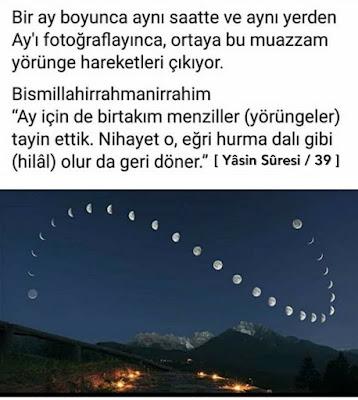 ay, ayın hareketleri, Yasin Suresi 39, hilal, menzil, yörünge, dolunay, manzara, gece manzarası, mücize, gökyüzü