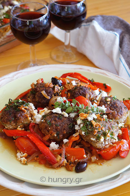 Summer Meatballs with Peppers & Feta