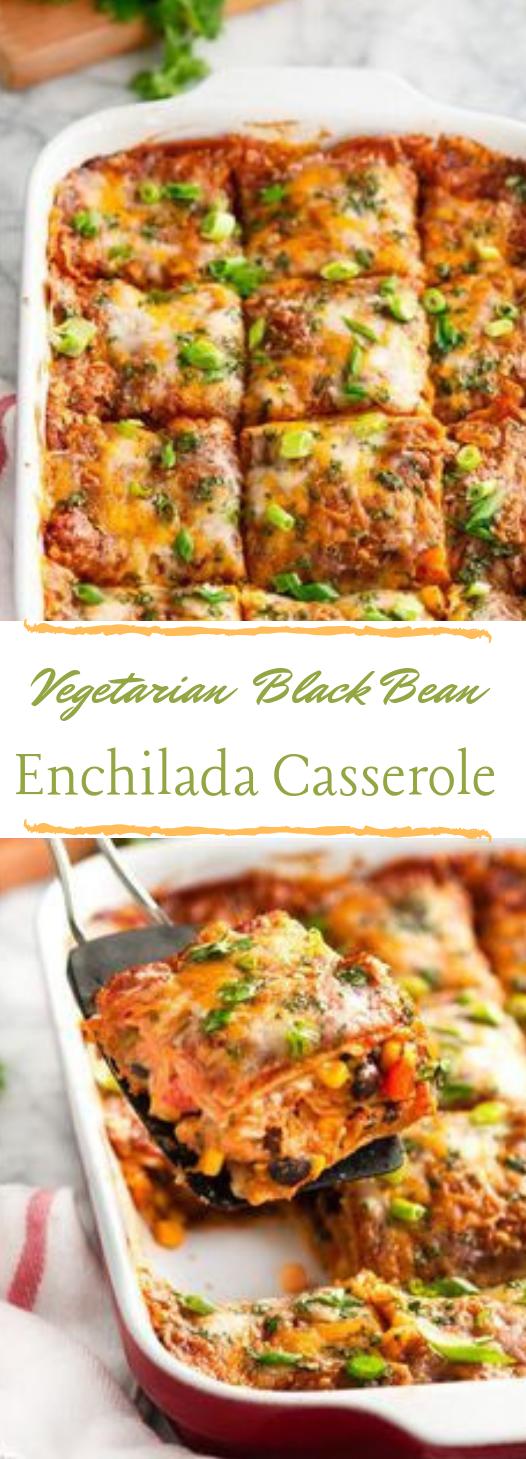 VEGETARIAN BLACK BEAN ENCHILADA CASSEROLE #cauliflower #vegan #whole30 #vegetarian #breakfast