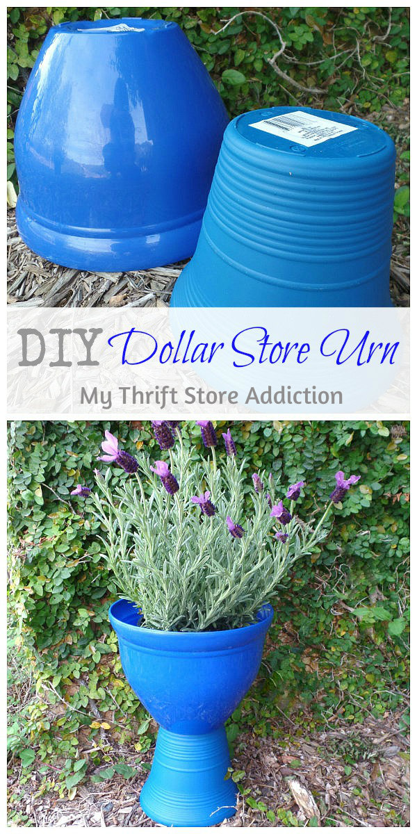 The 15 Minute Fix: DIY Dollar Store Urn mythriftstoreaddiction.blogspot.com Create a $2 urn with different sized dollar store pots!
