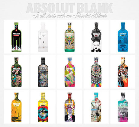absolut blank, anuncio, campanha, garrafa