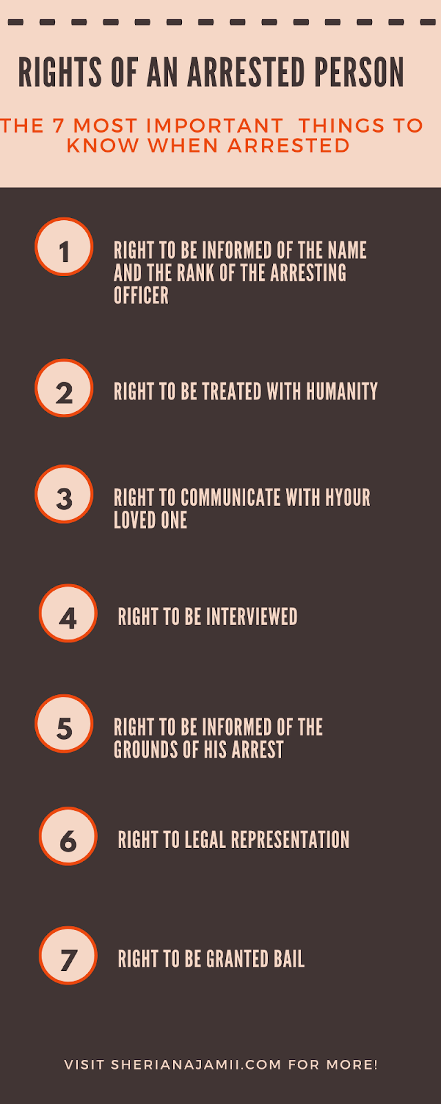 The 7 Most Important things to know when arrested by police