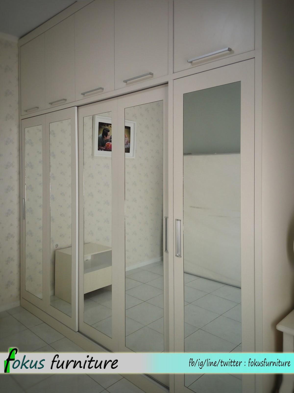Lemari Pakaian Sliding Susun Di Citra Indah Cileungsi FurnitureKitchen Set Minimalislemari
