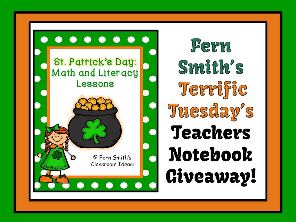 Fern Smith's Terrific Tuesday's Teachers Notebook Giveaway!