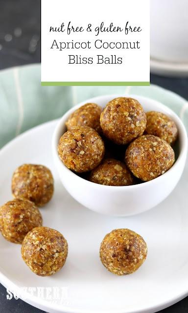 Nut Free Apricot Coconut Bliss Balls Recipe - gluten free, paleo, raw, vegan, healthy, grain free