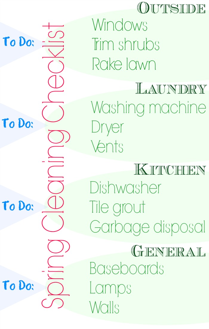 A printable spring cleaning checklist for deep cleaning your home