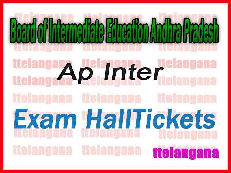 AP Andhra Pradesh Inter 1st 2nd Year Hall Tickets