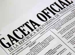 Revise SUMARIO Gaceta oficial Nº 41273 07 de noviembre de 2017