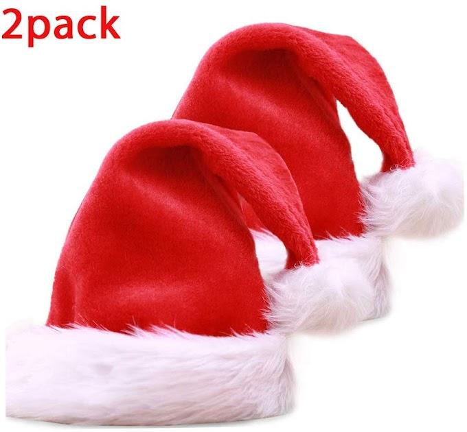 Santa Hat Christmas Hats Adults Kids Hat 50% off