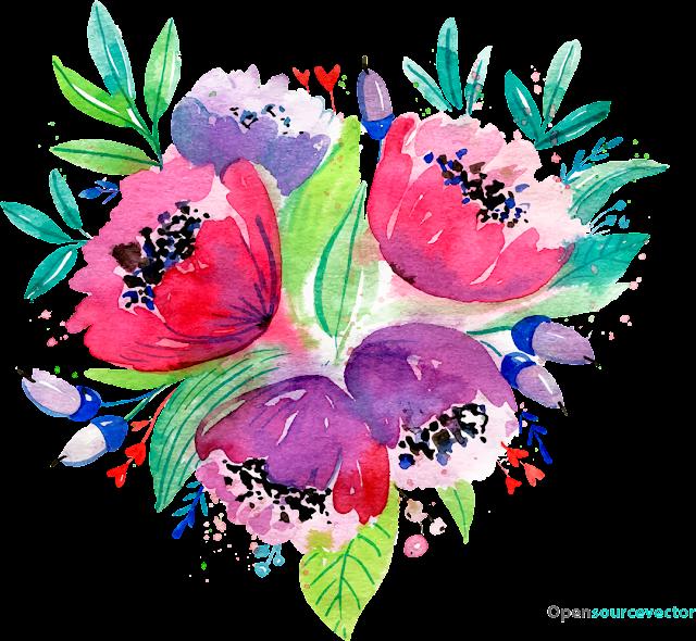 Mor, Pembe Çiçek Vektör