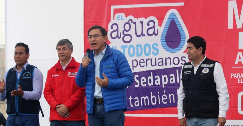 SEDAPAL NO SE PRIVATIZARÁ: Presidente Martín Vizcarra afirma que el servicio de agua en Lima y Callao seguirá siendo estatal