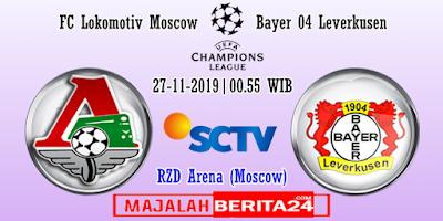 Prediksi Lokomotiv Moscow vs Bayer Leverkusen — 27 November 2019