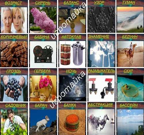 620 слов грозди винограда 22 уровень