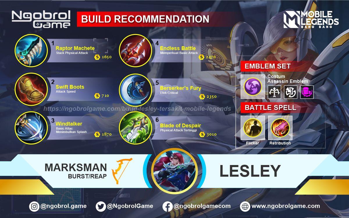 Build Lesley Tersakit 2021 Mobile Legends