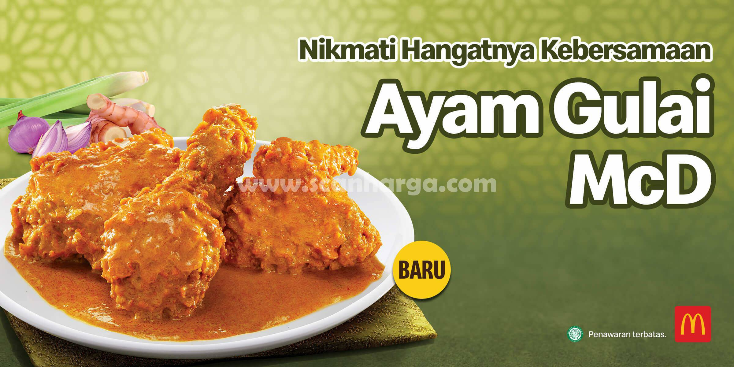 BARU! Ayam Gulai McD! Menu Ramadan dari McDonalds