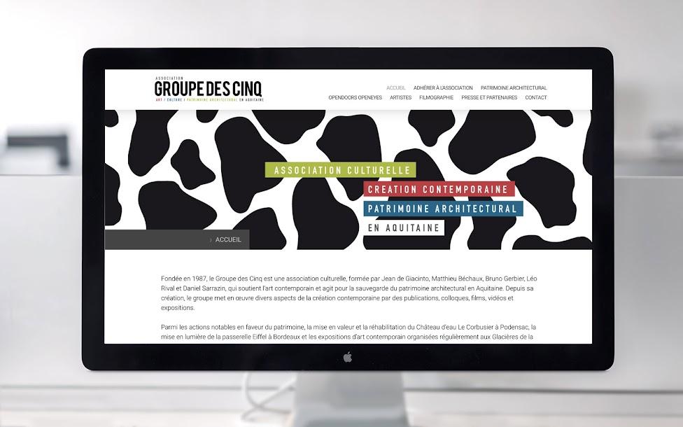 Visuel site internet Groupe des 5 - Art contemporain Patrimoine et architecture - Bordeaux