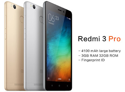 yang merupakan tipe lanjutan dari versi pendahulunya yakni  Spesifikasi dan Harga Xiaomi Redmi 3 Pro, RAM 3GB / 32GB HP Xiaomi Fingerprint Harga 1 Jutaan