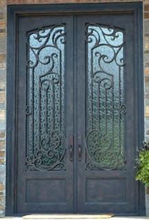 Pintu, Head, Besi, Tempa, Klasik, Mewah